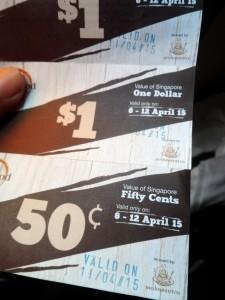 ticket vouchers for food